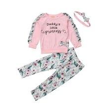 Pants Outfits Toddler Baby-Boys-Girls 0-3-Years 3pcs Headband-Set Tops Newborn