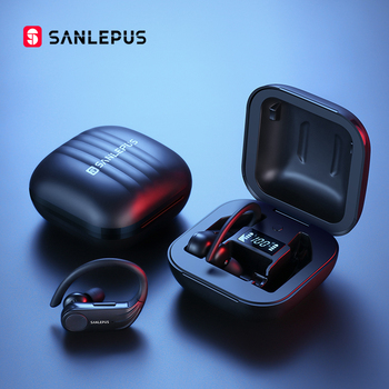 SANLEPUS B1 Led Display Bluetooth Earphone Wireless Headphones TWS Stereo Earbuds Waterproof Noise Cancelling Headset With Mic 1