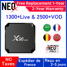 X96 mini Android tv box french IP TV Set Top Box X96mini 1 Year neo tv pro IPTV Belgium france Arabic IPTV m3u smart tv box