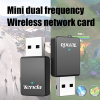 Tenda-adaptador Wifi U9 AC650Mbps 2,4G/5G, banda Dual AC650M, adaptador USB de instalación automática, tarjeta de red ethernet 802.11ac, receptor Wifi