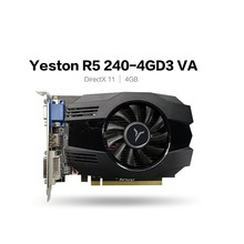 Yeston R5 240-4G D3 VA Grafikkarte DirectX 11 Video Karte 4GB/64Bit 133Hz 2 Phase Low Power Verbrauch GPU Computer Zubehör
