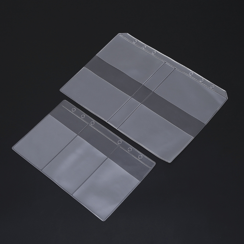 Clear PVC Business Card Storage Bag Filing Products Holder Binder Folder Cover DXAC