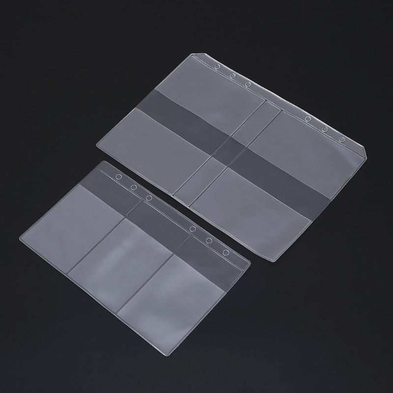 Clear PVC Business Card Storage Bag Filing Products Holder Binder Folder Cover DXAC