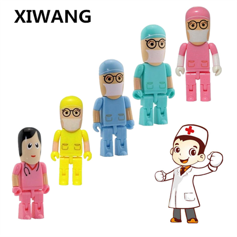 XIWANG Can Be Customized Logo Doctor Dentist Series Flash Drive Usb 2.0 4GB 8GB 16GB 32GB 64GB Creative Pendrive Gift Business