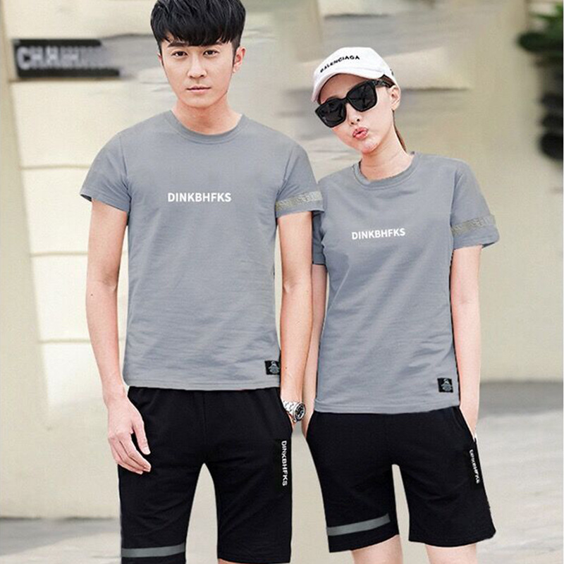 Casual Sets Summer Tracksuits Men And Women 2 Piece Set T-Shirt+Shorts Fashion Sportswear Jogging Track Suit 2020 Brand Clothes
