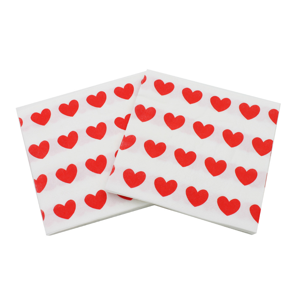 [Currently Available] Color Printing Wedding Napkin Heart Printed Paper Towel Kleenex RUWD-22