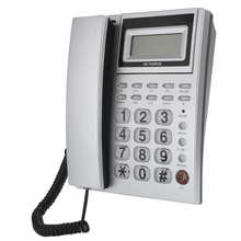 Corded Telephone Landline Desktop Hotel Office Caller-Id-Display with for Large-Button