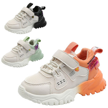Child Patchwork Color Mesh Shoes Boy Girl Soft Bottom Non-slip Casual Breathable Shoes 2020 Fall Kid Run Walk Sneaker Size 26-36