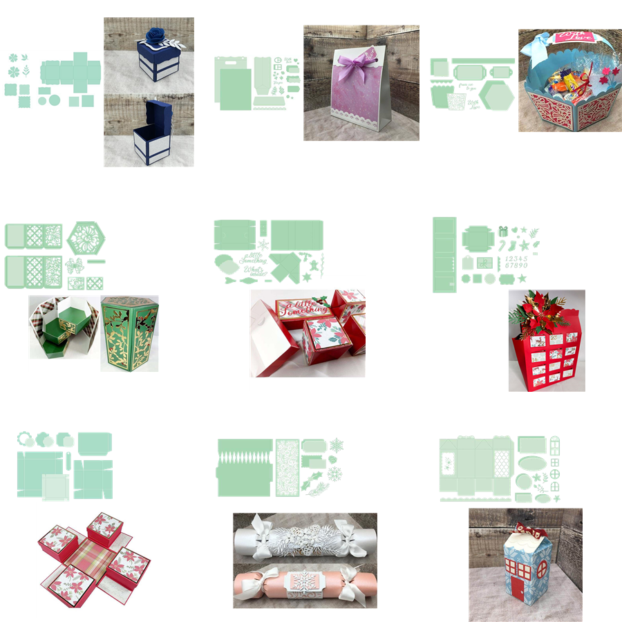 Gift Box Folding Metal Cutting Dies Stencil  Scrapbooking Embossing Paper Cards