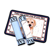 New Pet Mat Plush Cartoon Printing Four Seasons Available Dog Cushion Square Non-slip Puppy Training Travel