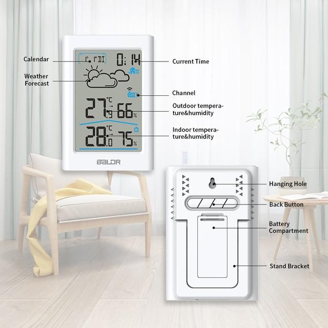 Baldr  Weather Station LCD Thermometer Hygrometer Meter Forecast Sensor Indoor Outdoor Sensor 2