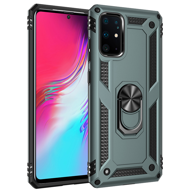 Shockproof Armor Case For Samsung Galaxy S20 Ultra Coque S20 Plus Magnetic Car Ring Stand Phone Cover A51 A71 Anti Shock Case