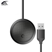 Micrófono de condensador omnidireccional USB, altavoz profesional con cable de 3,5mm, para conferencia, PC, reunión