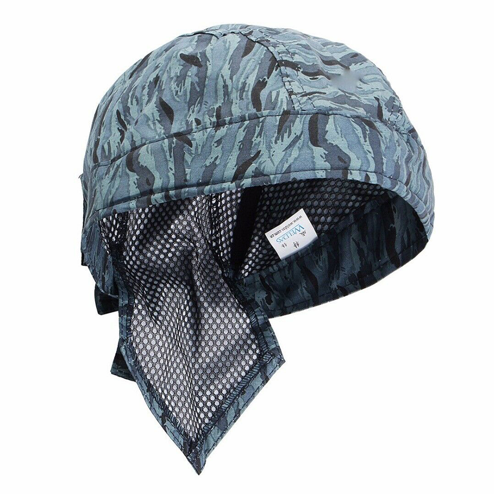 Head Protection Breathable Fashion Scarf Hat Heat Insulation Safe Flame Retardant Elastic Blue Washable Comfortable Welding Cap