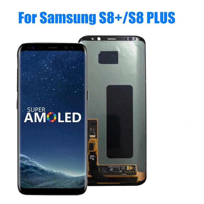 ORIGINAL AMOLED LCD For SAMSUNG Galaxy S8+ Plus G955U G955F Display Touch Screen Digitizer With Dead Dot Small Burn-shadows