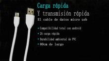 Cable USB 80 cm micro enchufe largo para cat s60 s30 s40 s50 teléfono móvil cat s40 black