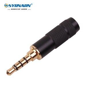 1PCS SYRNARN 3,5 4 Pole 3,5mm Stereo Kopfhörer Stecker Jack Audio Lote Connector für 6mm kabel