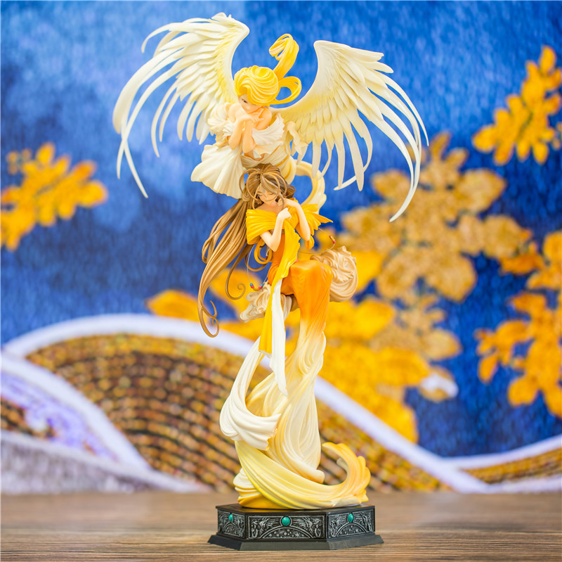 25th Anniversary My Goddess Belldandy WIth Holybell Ver Action Figure Figurines PVC 32cm Collection Model Girl Doll T30