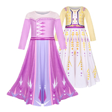 4-11 Years Girls Dresses Snow Princess Dress Anna Elsa Dresses girl Party Costume Kids Elza Costume Pink Color Clothes 8176 new summer princess elsa dress for girls baby anime birthday party dresses elza costume kids girl vestido clothing 3 8t pink