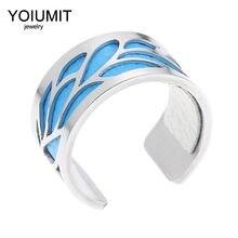 Cremo DIY ajustable Bagues Pour Femme cuero intercambiable 2020 anillos de acero inoxidable para la joyería de las mujeres