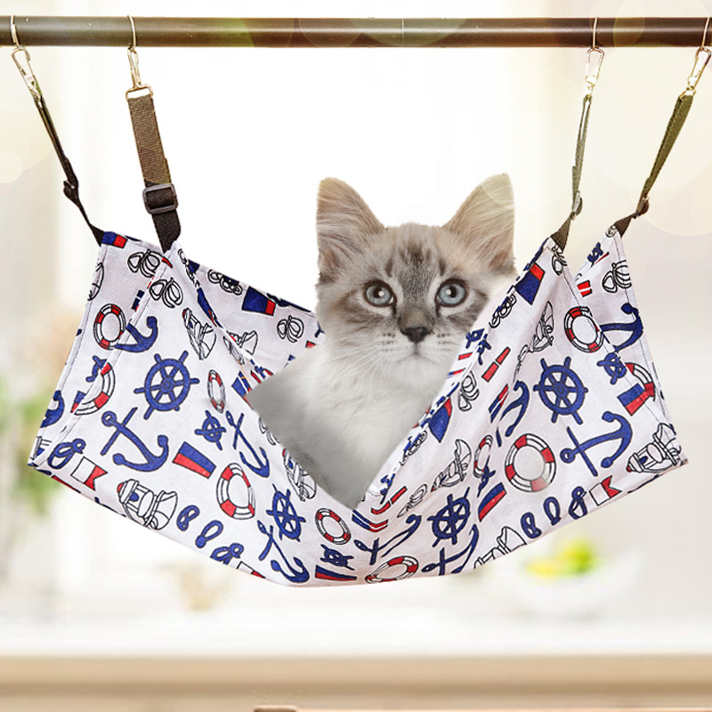 Cat Hammock Breathable Two-sided Summer For Thin Color Pattern Medium & Large Cat Supplies