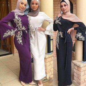 Image 2 - אישה העבאיה דובאי מוסלמי חיג אב שמלת Abayas נשים קפטן מרוקאי קפטן תורכי שמלות תפילה האסלאמי ביגוד Robe Femme