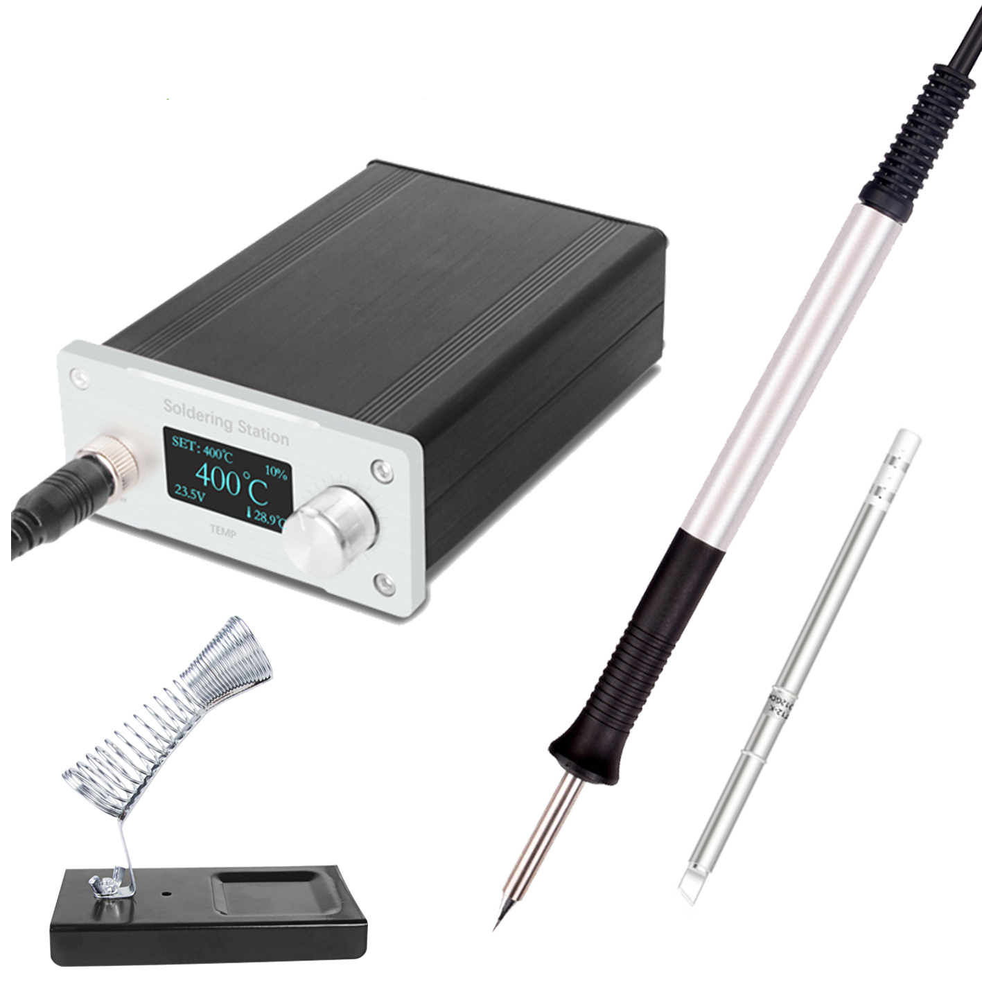 T12 Soldering Station STC OLED 1.3 Display Adjustable Temperature Digital Electronic With Soldering Tips Welding ToolsSoldering Stations   - AliExpress