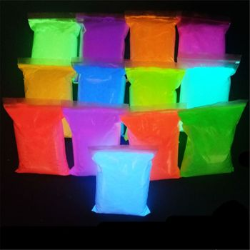 14 Colors Acrylic Paint Glow in the Dark gold Glowing paint Luminous Pigment Fluorescent Powder painting J20 20 Dropship 10g luminous paint fluorescent paint noctilucent powder in diy decorations acrylic powder phosphor pigment glow in the dark