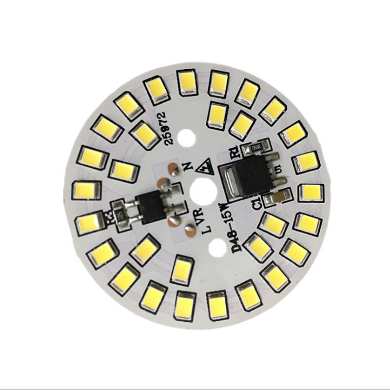 LED SMD Chip LED Bulb Lamp 15W 12W 9W 7W 5W 3W AC220V  Smart IC LED Bean DOB For Bulb Light Driverless Cold White Warm White