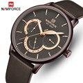 Мужские часы NAVIFORCE Топ люксовый бренд водонепроницаемые 24 часа дата Кварцевые часы мужские кожаные спортивные наручные часы Relogio Masculino