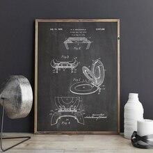 Vintage carteles nórdicos imprimir asiento de inodoro patente Blueprint Pared de baño lienzo pintura Ideal regalo imagen baño hogar Decoración