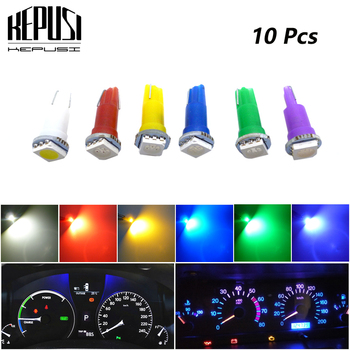 цена на 10pcs T5 led 17 37 73 74 SMD 5050 Auto LED Lamp Car Dashboard Instrument Light Bulb 12V white blue red yellow green purple
