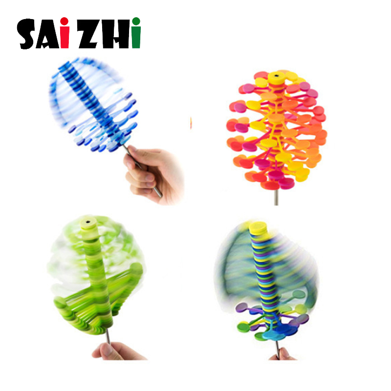 Saizhi Magic Rotating Spin Toy Anxiety Stress Relief Office Toys Creative Decompression Toy Rotating Lollipop For Children Adult