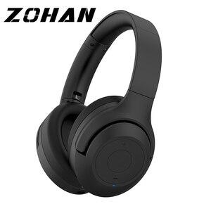 Image 1 - Шумоподавляющие наушники ZOHAN BT30NC с активным шумоподавлением, беспроводные наушники с микрофоном, стереонаушники с басами и Bluetooth, Накладные наушники