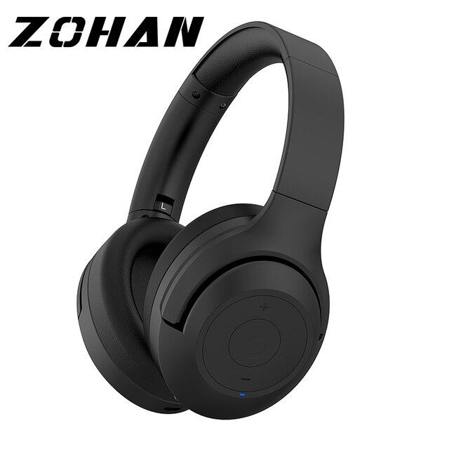 Шумоподавляющие наушники ZOHAN BT30NC с активным шумоподавлением, беспроводные наушники с микрофоном, стереонаушники с басами и Bluetooth, Накладные наушники