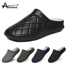 Men s Slippers Home Antiskid Sewing Interior Slipper Men Casual Warm Flat Shoes Winter Plush Male House Shoes Plus Size 48
