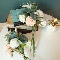 INS Neue Blumen Löwenzahn Hybrid Bouquet Grün Pflanzen Hause Wohnzimmer Dekoration Weihnachten Hochzeit Dekoration