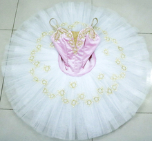 Pink gold Pre-Professional Ballet Dance Tutu Ballerina Costume Performance Dress Tutus for Girls