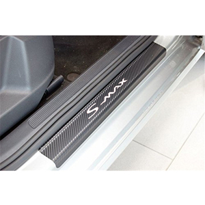 Image 3 - 4PCS רכב דלת אדן מדבקות עבור פורד s max פחמן Fibe אנטי שריטה אוטומטי דלת הגנת סרט מדבקות אביזרי רכב סטיילינג