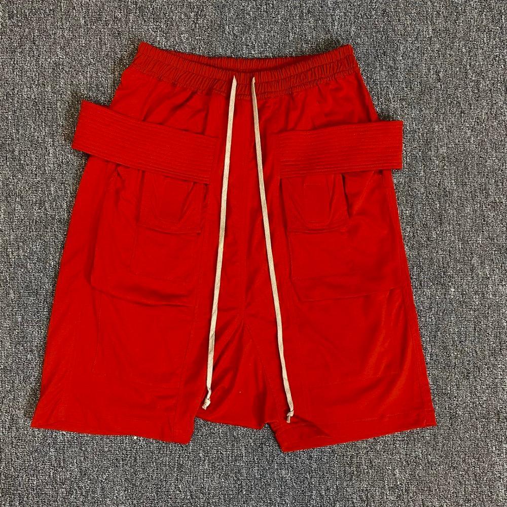 Мужские и женские повседневные хлопковые короткие шаровары Owen Seak, готические спортивные штаны с крестами, свободные красные шорты в стиле х