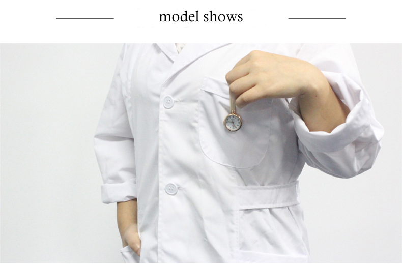 enfermeira relógios à prova dwaterproof água prata