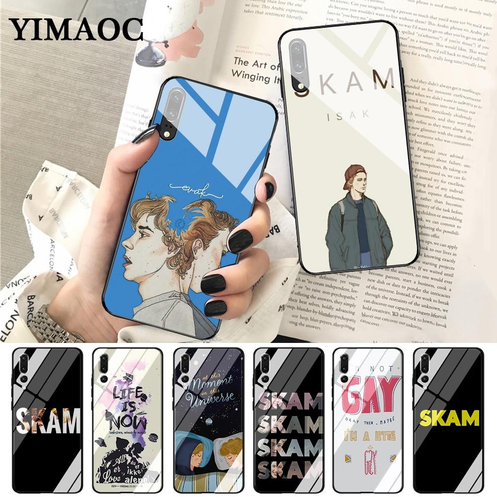 YIMAOC Norwegian Tv Skam Fashion Glass Case for Huawei P10 lite P20 Pro P30 P Smart honor 7A 8X 9 10 Y6 Mate 20