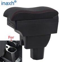 Para suzuki ignis braço retrofit peças caixa de armazenamento interior 3usb led simples instalação caixa braço do carro