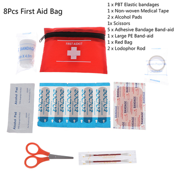 8pcs/set Home Small Medical Box Emergency Survival kit Waterproof Mini Outdoor Travel Car First Aid kit Household image