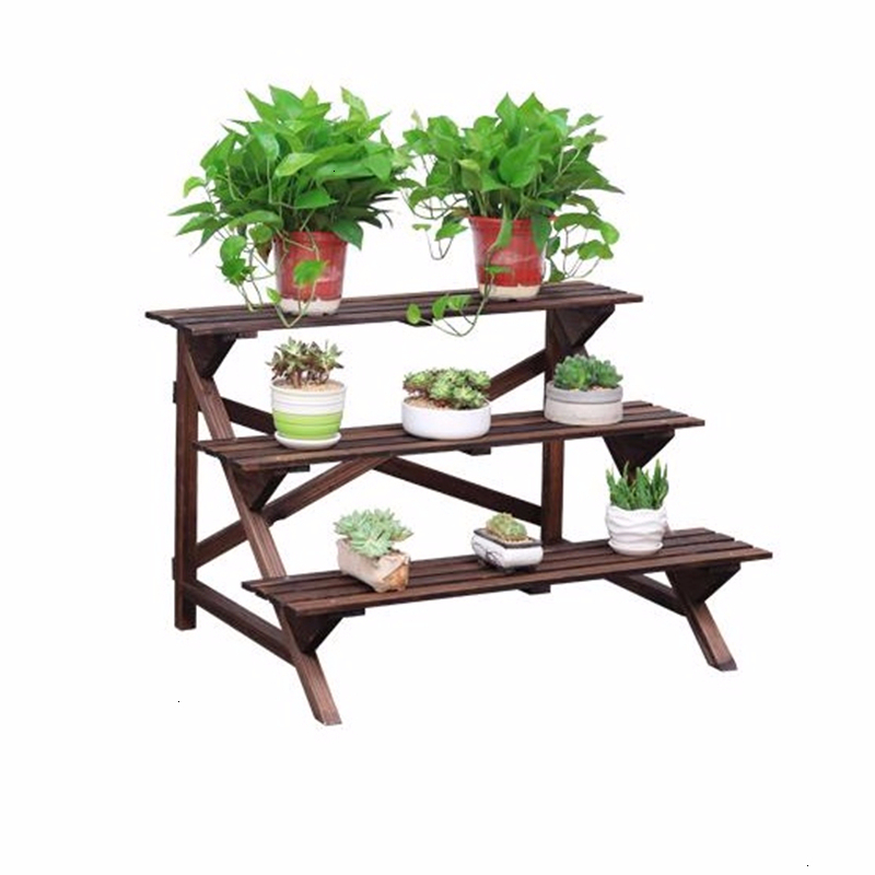 Urbano Madera Terraza Etagere Pour Plante Estanteria Escalera Indoor Outdoor Stand Stojak Na Kwiaty Balcony Flower Plant Shelf