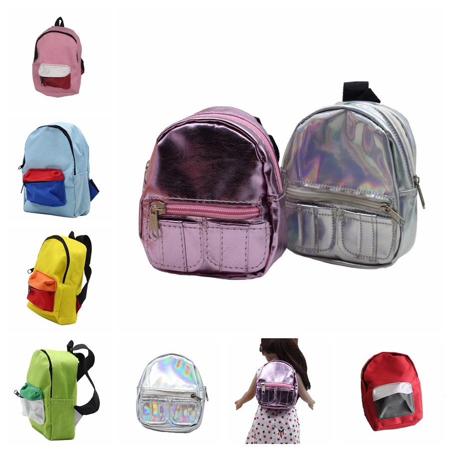 1PCS Pink/Silver Dolls Bag Accessories Backpack For 18