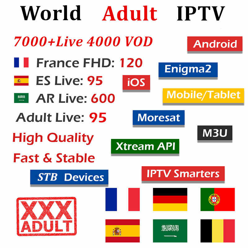 French IPTV subscription 7000+Live for France Spain IPTV m3u Portugal Sweden Belgium for smart tv box android tv box X96 mini