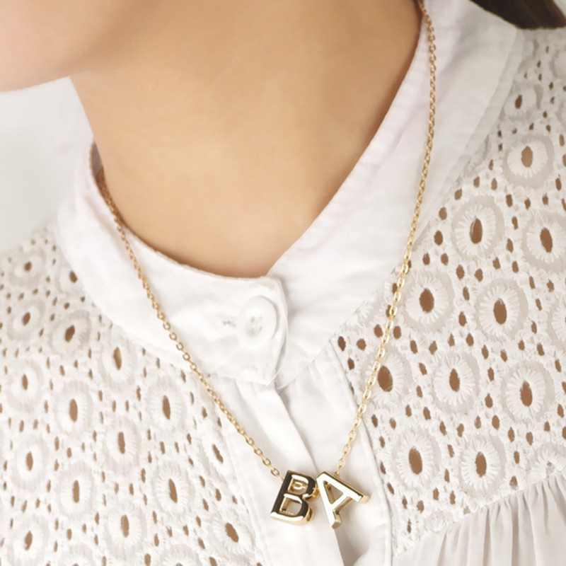 Thời trang Nhỏ Dainty Ban Đầu Cá Tính Kim Loại Chữ Choker Vòng Đeo Cổ cho Nữ Vàng/Màu Bạc Mặt Dây Chuyền Cổ Món Quà Trang Sức