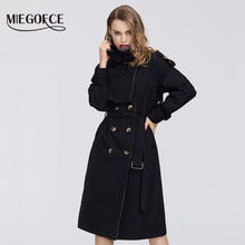 Windbreaker Spring MIEGOFCE Women S-Coat Warm with Buttons S-Cloak New-Collection
