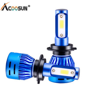Auto H4 Headlight Bulbs Lamp H4 Led H7 9005 HB3 9006 HB4 H1 H11 H3 Imported COB Chip 72W 8000LM White High Power Car LED Lights(China)